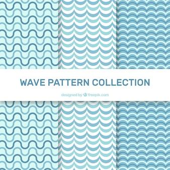 Vários, onda, padrões, liso, desenho