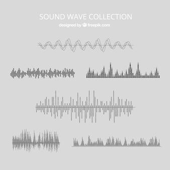 Vários ondas sonoras