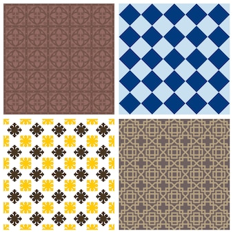 Vários padrões ornamentais sem costura