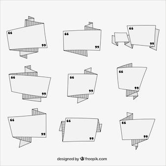 Vários rótulos geométricas pronto para escrever mensagens