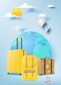 Vários saco e bagagem para viagem