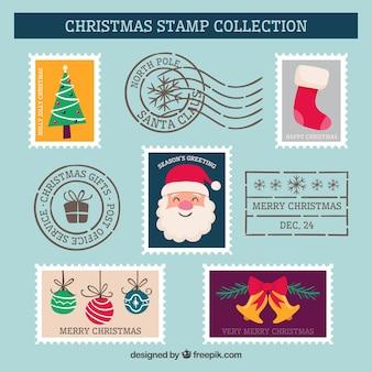 Vários selos de natal