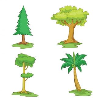 Vários tipos de árvores