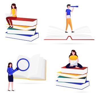 Vários tipos de ilustração do conhecimento