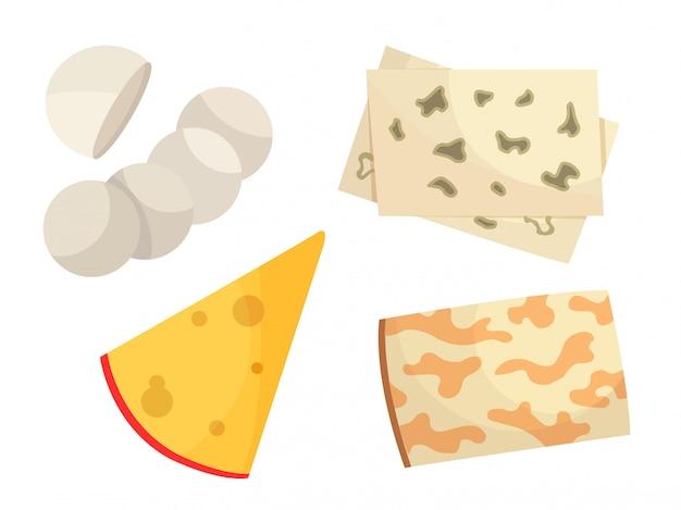 Vários tipos de queijo.