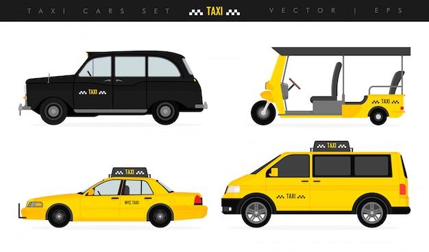 Vários tipos de veículos de cabine