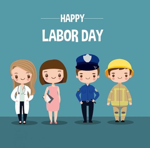 Vários trabalhador de carreira definido para o dia do trabalho