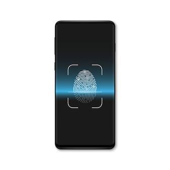 Varredura biométrica de impressão digital, sistema de identificação