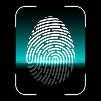 Varredura biométrica de impressões digitais, sistema de identificação