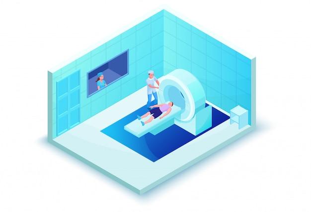 Varredura de ressonância magnética no sistema de saúde