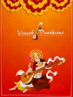 Vasant panchami, experiência criativa com saraswati veena e livros