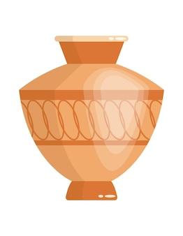 Vaso grego em estilo antigo como modelo para o interior