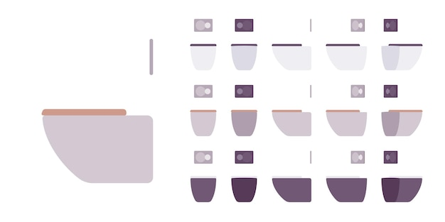 Vaso sanitário para conjunto de banheiro