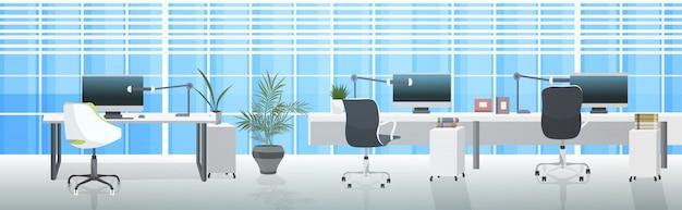 Vazio no people coworking center modernos locais de trabalho espaço aberto escritório interior horizontal