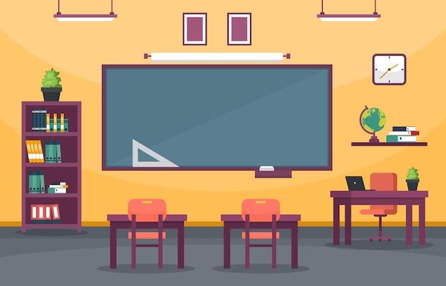 Vazio sala de aula educação elementary high school class ninguém ilustração
