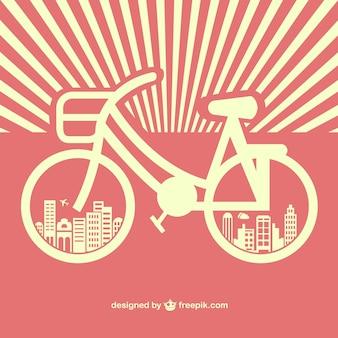 Vctor gratuito de bicicletas retro sunburst