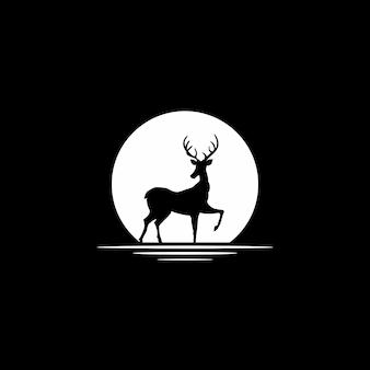 Veado com logotipo do círculo
