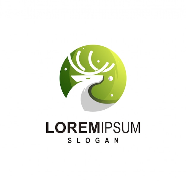 Veado logotipo design premium victor