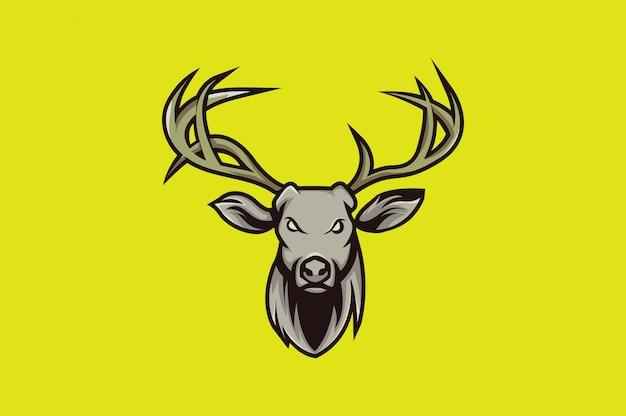 Veado logotipo esporte