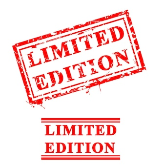 Vector 2 estilo de carimbo de borracha vermelho sujo, edição limitada