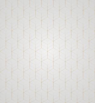 Vector 3d ouro geométrico quadrado