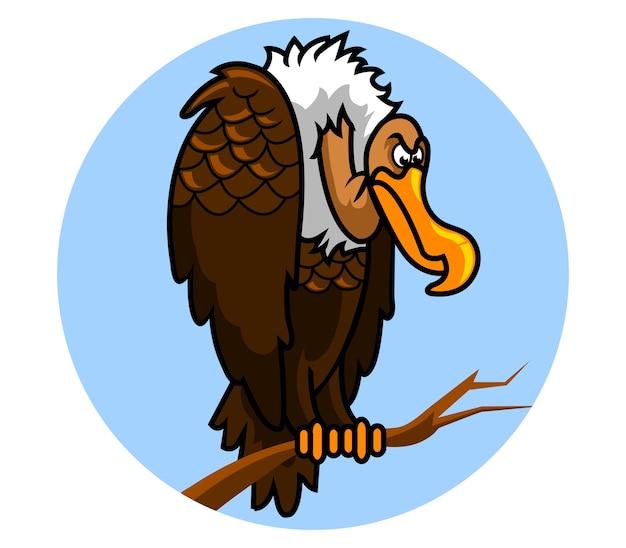 Vector a ilustração do pássaro do abutre, um predador do cadáver.