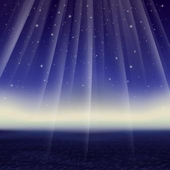 Vector abstract starry night e do mar