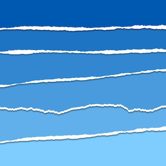 Vector azul rasgado ou rasgado fundo de papel