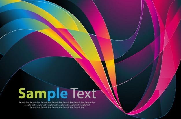 Vector background livre abstrato colorido