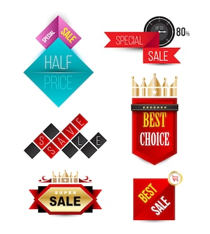 Vector badges fitas e banners