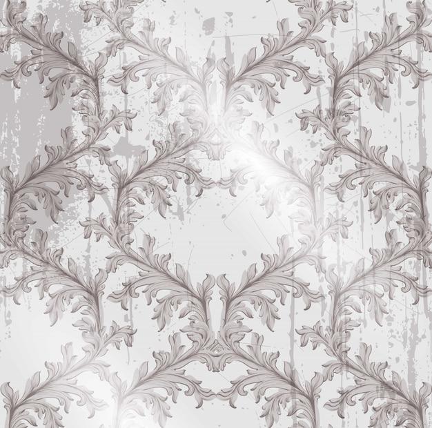 Vector barroco do fundo do grunge. textura artesanal da decoração do ornamento artesanal