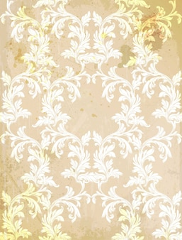 Vector barroco do fundo do grunge. texturas de decoração de ornamento vintage
