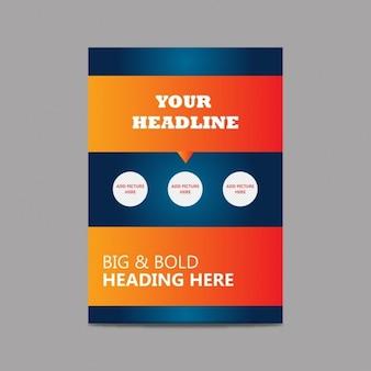 Vector brochure editável fundo