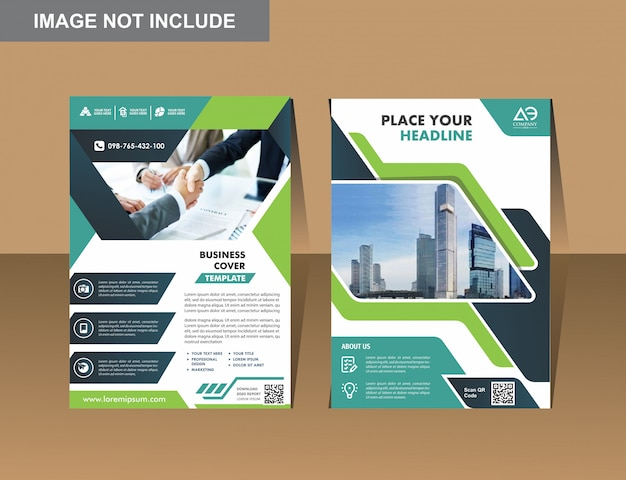 Vector business flyers design modelo de perfil da empresa