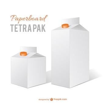 Vector caixas de leite
