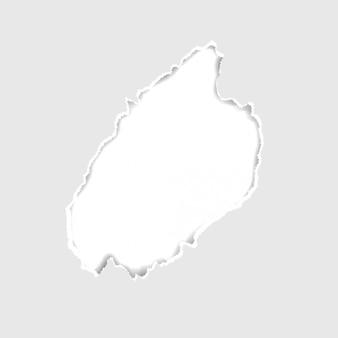 Vector cinza rasgado ou rasgado fundo de buraco de papel