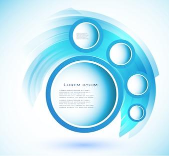 Vector círculo abstrato azul. curva