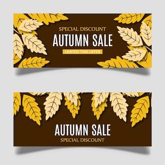 Vector colorido Banner Design de outono