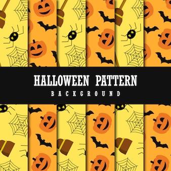Vector colorido fundo de padrão de halloween