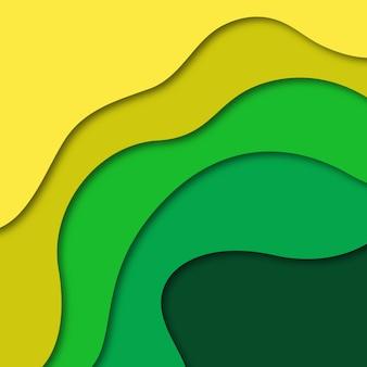 Vector colorido papercut fundo