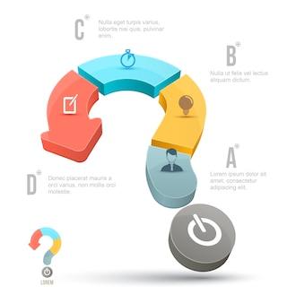 Vector conceitos de negócios de ponto de interrogação com ícones