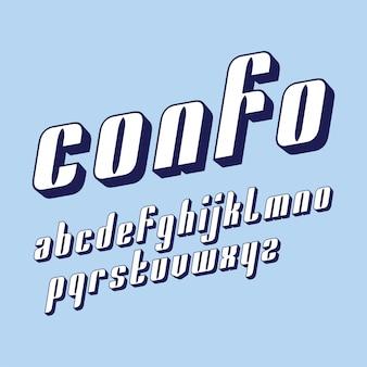 Vector condensado design de fonte original de exibição negrito
