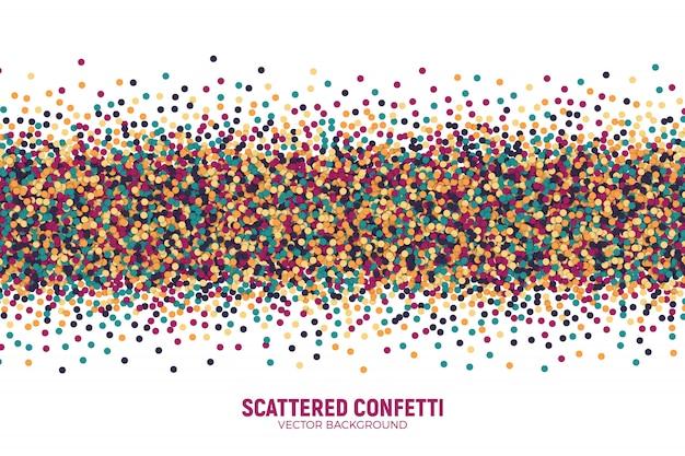 Vector confuso varicolored variegado confetti