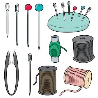 Vector conjunto de acessórios de costura
