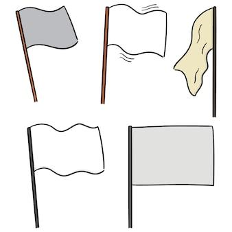 Vector conjunto de bandeiras