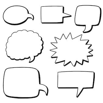 Vector conjunto de bolhas do discurso