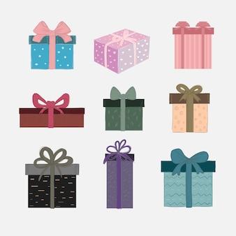 Vector conjunto de caixas de presente bonito