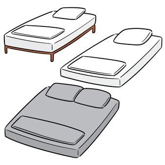 Vector conjunto de cama