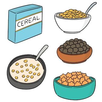 Vector conjunto de cereais