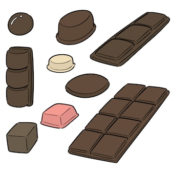 Vector conjunto de chocolate